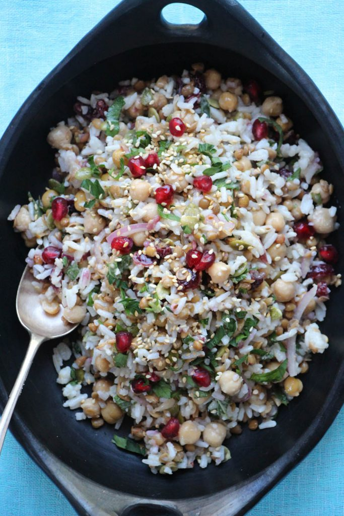 Feel Good Salad with Chickpeas and Pomegranate