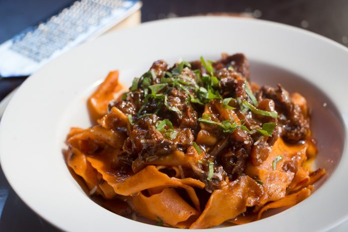 Red Wine Oxtail Ragu with Roasted Capsicum Pappardelle