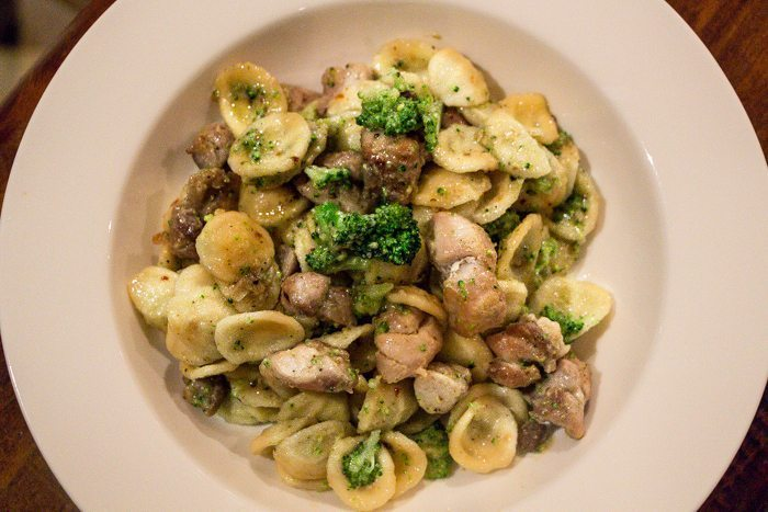 Orecchiette with chicken and broccoli liliana battle orecchiette meaning little ears are one of my favourite shapes of pasta you can make them yourself if you have the time and patience but its easier to solutioingenieria Images