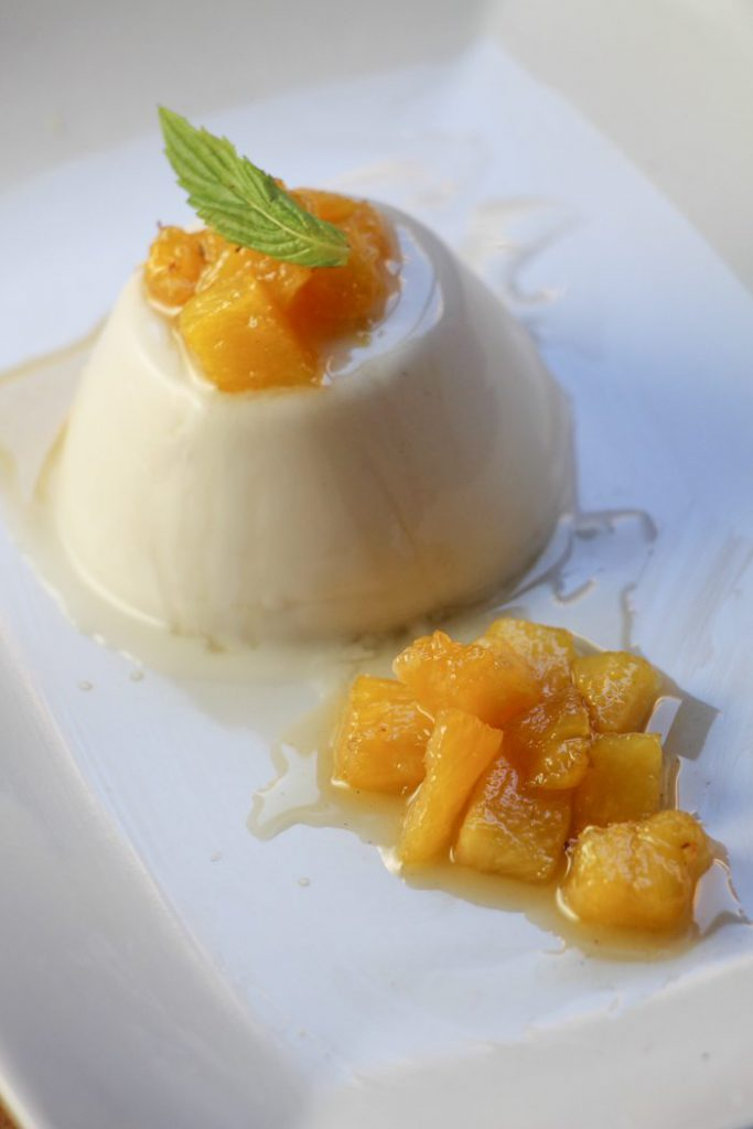 Coconut Panna Cotta with Pineapple